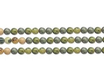 Round Yellow Turquoise Bead 6mm 16 Inch Strand
