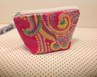 Essential Oil Case with elastic holders - Poodle Laminated Cotton