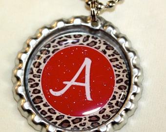 Initial Bottle Cap necklace