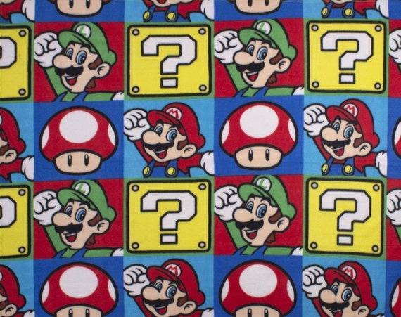 New Nintendo Super Mario Bros Brothers Fleece Nap Blanket
