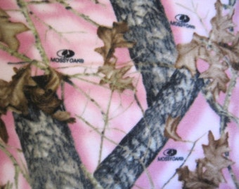 Trees on Pink with Brown Fleece Blanket - Ready to Ship Now