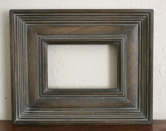 Sizes 8x10 to 12x12 Wood Picture Frame / Gray Washed Brown / Empire Style