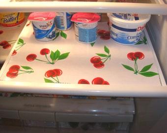 Custom Oilcloth Reversible Refrigerator Shelf Liners