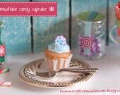 Christmas Cupcake 'Snowflake Candy  - 1/12 Scale Dollhouse Miniature