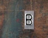 vintage industrial letter B / metal letters / letter art