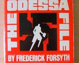 Vintage Paperback Book The Odessa File Frederick Forsyth Fiction Novel 1970s Suspense WW2 Espionage SS Third Reich Germany DDR Jon Voight