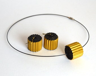 golden-black: Set RULLO - earrings and necklace