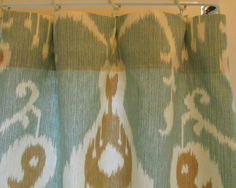 Window Curtain- Premier Prints   Pair 25 x 63 or 83 or 96 or 108 Java Ikat