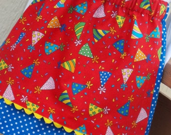 Buy Any 2 Skirts and Get 1 FREE, Birthday Celebration Apron Skirt, Size 2, 3, 4, 5, 6, 7, 8, 9, 10, and 12