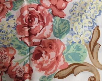 Roses a Fine Silk Scarf Charter Club cream peach yellow