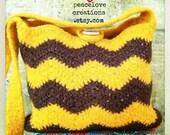 Crochet Felted Chevron Bag