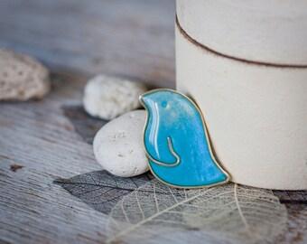 Bird Pin - Turquoise