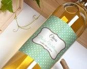Custom Wine Bottle Labels Personalized Baby Shower Favors Gender Reveal Waterproof Printed Wine Labels Personalized Wine Stickers WB-1016