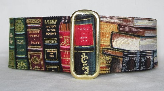 Classic Books Martingale Dog Collar - 2 Inch - literature reading Gone with the Wind Exodus book binding volume library