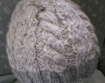 Knitted Adult Cable Hat