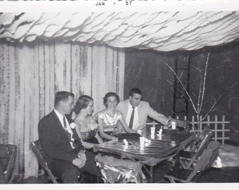 At the Dance - Vintage Photograph, Vernacular, Found Photo, Ephemera (YY)
