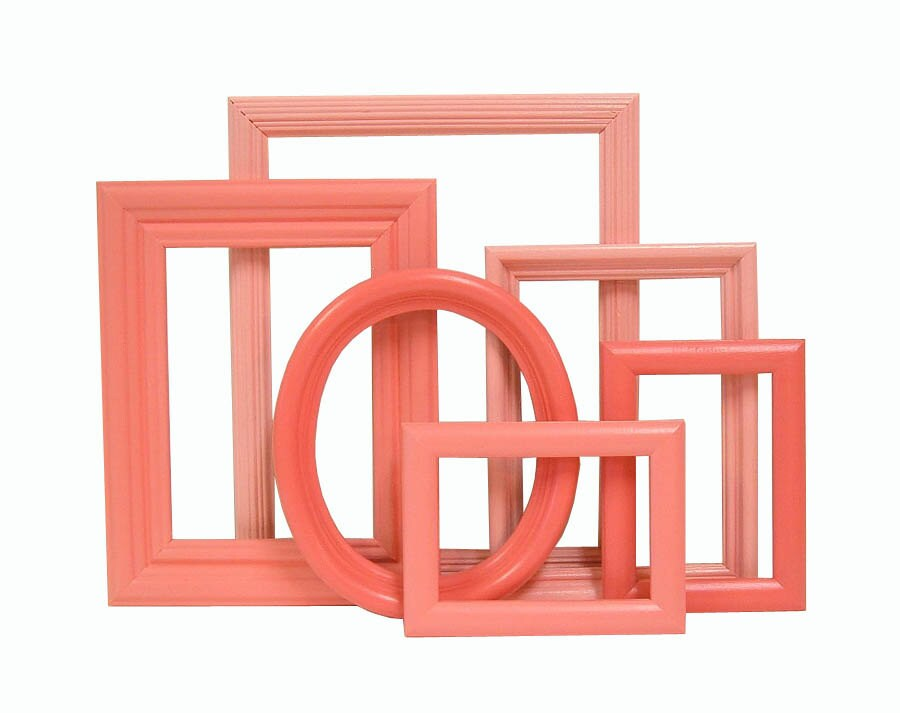 Shabby Chic Picture Frames Coral Picture Frame Set Retro