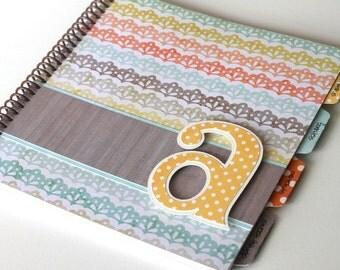 Baby Memory Book * Birthday Photo Book * Girl Baby Book * Spunk & Love Modern Baby Book * AMELIA Design