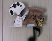 Snoopy Piano pendulum clock