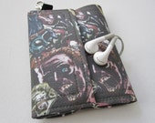 Nerd Herder gadget wallet in Zombie Horde (wine) for iPhone 5, Android, iPhone 6, guitar picks, digital camera, earbuds