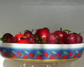 "Vista Alegra Oval ""Cherries"" Ceramic Casserole Baking Dish"