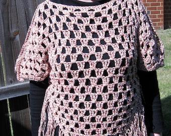 PDF Pattern Crochet Triangle Shawl Sweater