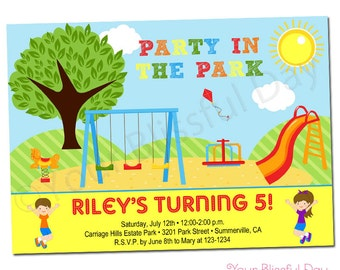 PRINTABLE Party in the Park Invitation #567