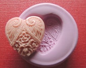 Flexible Mold Small Heart Silicone Mold Resin Polymer Clay Heart Love Flower Moulds