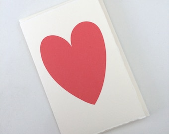 Card with a raspberry pink heart // anniversary card // generic card // card for any occasion // heart cards // cards with a heart