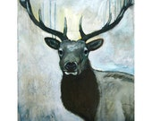 His Majesty - The Elk - Fine Art Print - By Man Art Nation