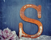 12 INCH tall Rusty Metal Letter A - Z & 1 2 3 by Junk Love and Co Copy