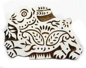 Textile Printing Block Indian Wood Stamp Wood Block Art Rabbit Stamp Handcraved Stamp Piece PB1007