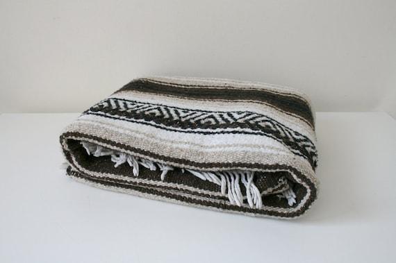 Brown Black Mexican Blanket