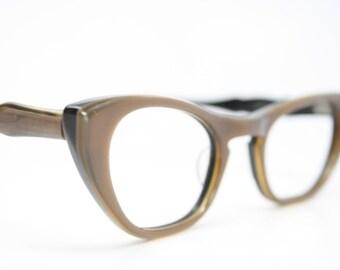 cat eye glasses brown vintage eyeglass frames