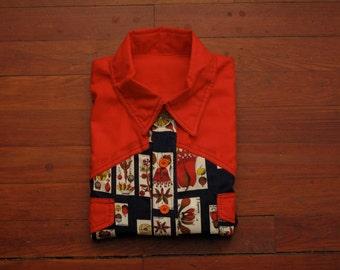 mens vintage home made western shirt
