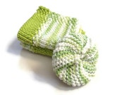 Dishcloth and Scrubbie Combo Pack Lime Green