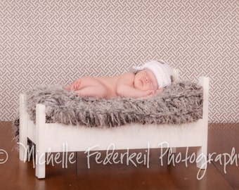 Baby Photography Prop Blanket Gray Rug Newborn Grey Baby Blanket Faux Fur Blanket