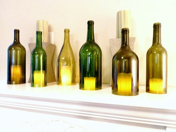 Wine Bottle Candle Holder Hurricane Lamp Candle Cover