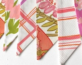 Retro Bunting featuring 70s Flower Power Pink and Green Vintage fabric