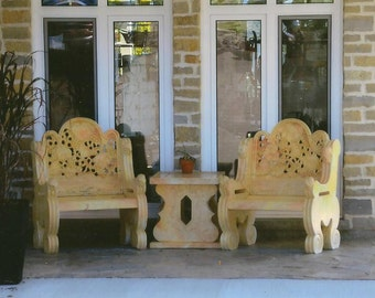 Two Comfy Chairs A Perfect Conversation Spot Art Photography on Blank Note Card Perfect Friendship or All Occasion Card B3G1F