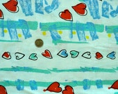 Retro Heart Double Knit Polyester Fabric - 33 inches long x 60 inches wide