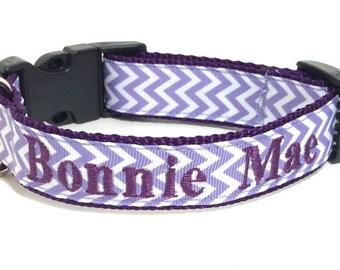 Dog Collar - Personalized Dog Collar - Chevron Dog Collar