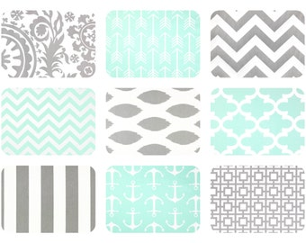 Popular Items For Mint Green And Gray On Etsy