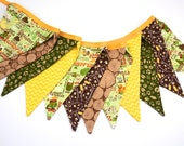 Eco-Friendly Reusable Fabric Bunting, Banner, Pennant, Flag, Garland, Photo Prop, Decoration in Camp a Lot by Riley Blake