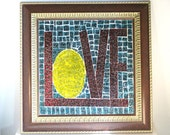 Stained Glass Mosaic Art Valentines Day Wall Decor Wall Hanging Home Decor Housewares Love Decor
