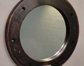 Bolt Down Pipe Flange - Antique Foundry Pattern Mirror - Civil War Industrial era