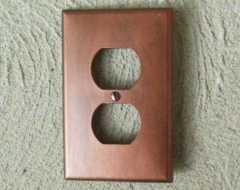 Antiqued Copper Outlet Cover
