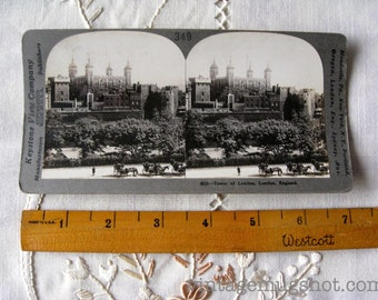 Vintage 1905 Stereoscopic Stereoview Stereo Card Photo Tower of London England 349