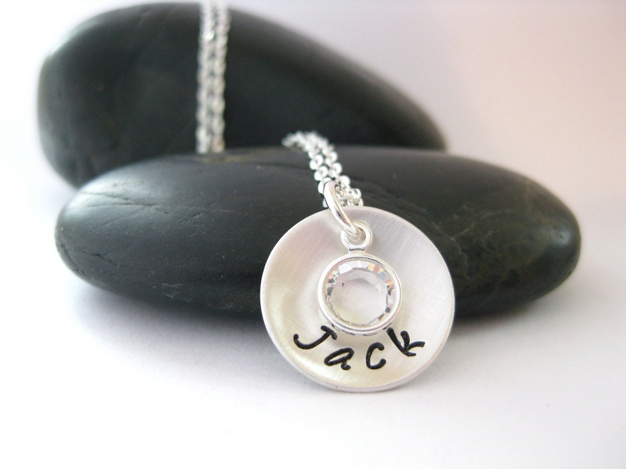 New mom necklace hand stamped jewelry by rachelvannatten for How do you make hand stamped jewelry