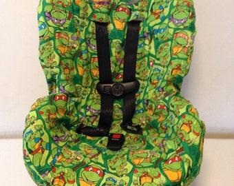 READY TO SHIP Teenage Mutant Ninja Turtles fabric carseat cover toddler
